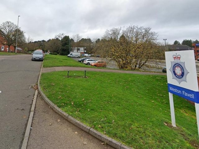 Friday's brutal attack happened yards away from Weston Favell police station