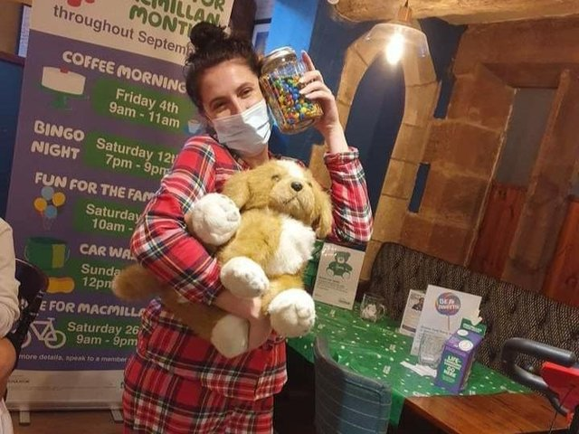 Staff at the Ock n Dough in Wellingborough have been doing their bit for charity