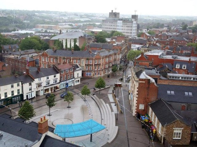 Kettering town centre.