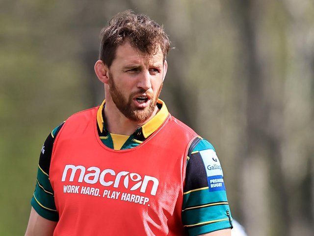 Tom Wood at Saints training on Tuesday