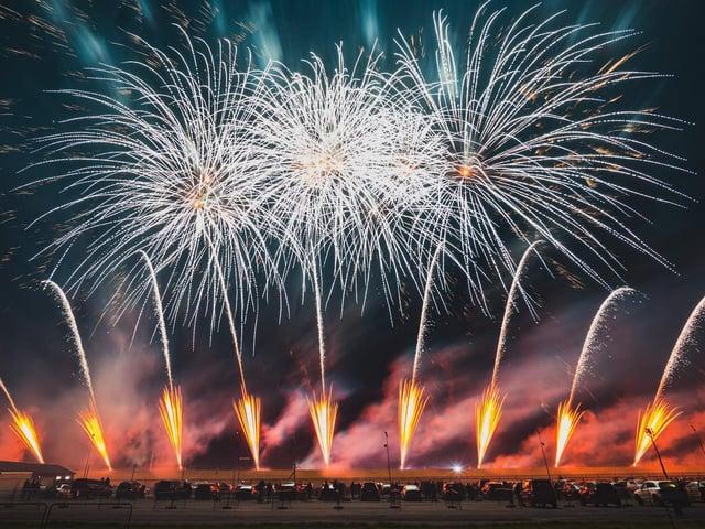 Fireworks at Santa Pod by Titanium Fireworks