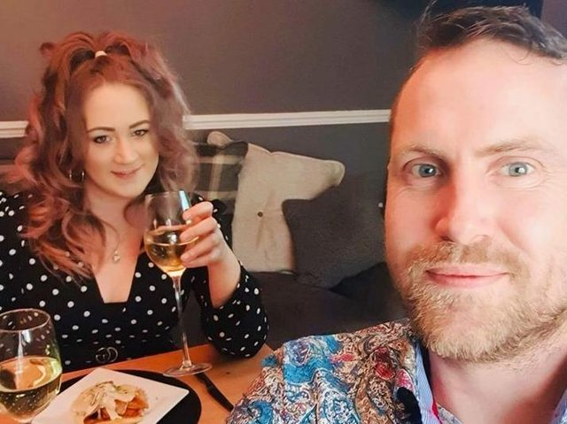 Drew Wilcox and Charlene Pinchin on their date night.