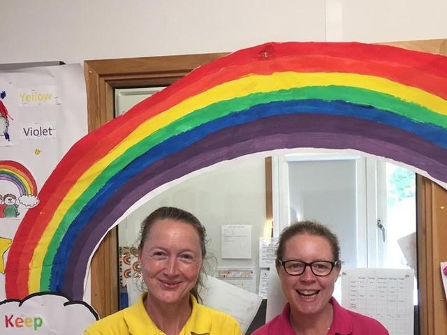 Kerry Wright (manager Busy Bees Wollaston) and Kerry Gay (manager of Wollaston and Strixton Pre-School)