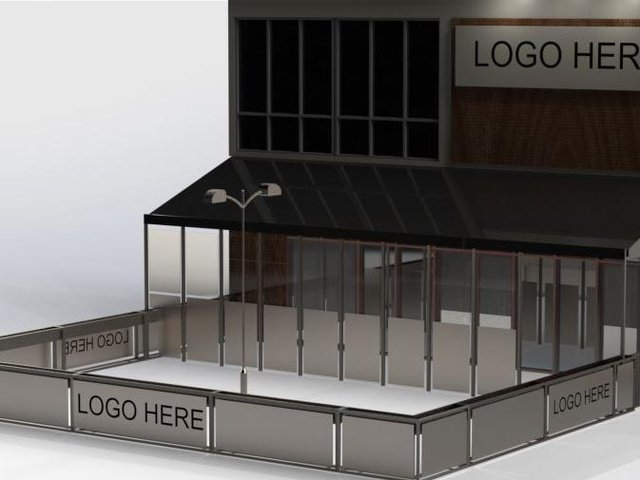 A glass-covered seating area and an outdoor section are being planned for the new premises in Queen's Square