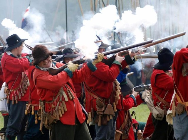 The Battle of Naseby was a crucial battle in the English Civil War. (Photo by asdf)