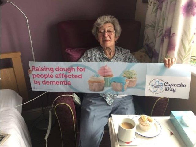 Residents at Westhill Park took part in The Alzheimer's Society Cupcake Day