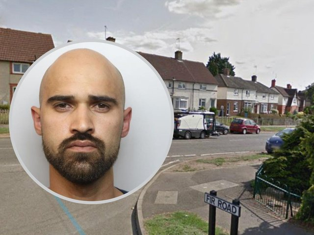He was caught at this Kettering junction with 7kg of cannabis in his Citroen. Image: Google.