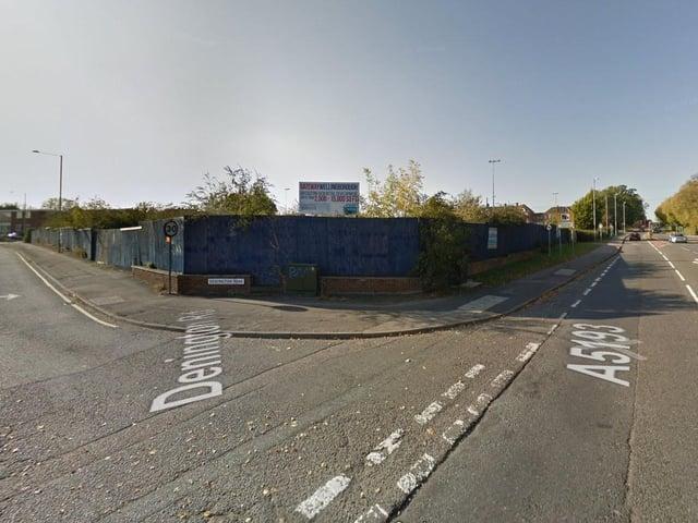 The site of the proposed development in Denington Road/London Road, Wellingborough
