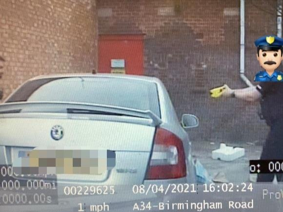 The driver attempted to escape but stopped in his tracks at the sight of a taser.