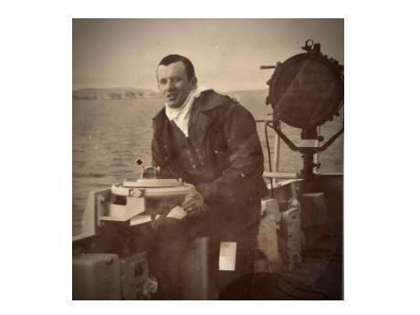 Paul McKay on board a Royal Navy ship