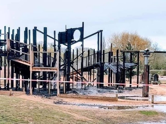 The devastation caused by the blaze. Image: Raunds Fire Station,