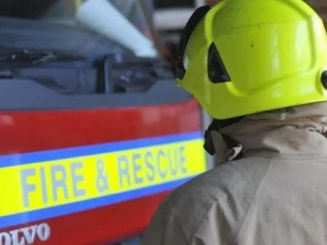 Firefighters tackled the blaze at Weston Favell on Sunday morning
