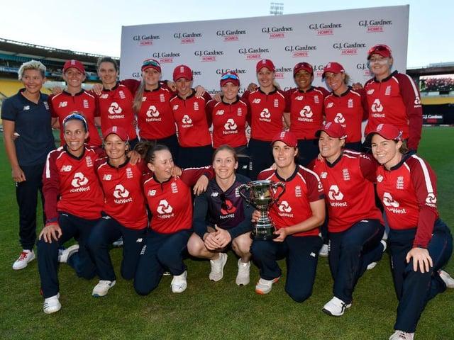England's women cricketers were winners in New Zealand in March