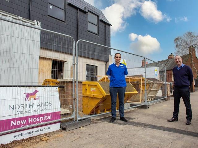 Hospital clinical director Hans van der Hoven and practice manager Karl Walker