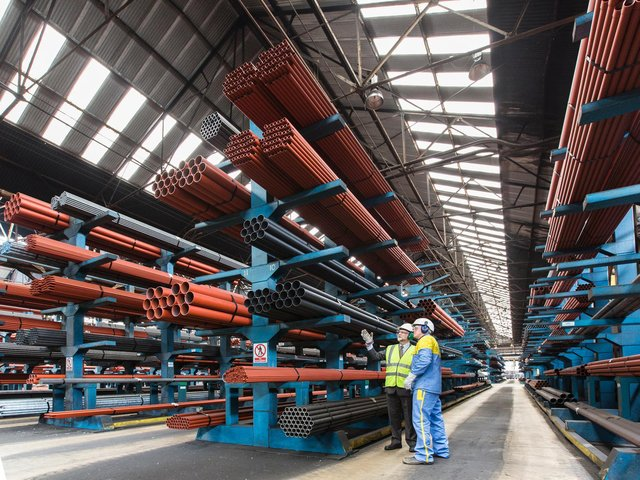 The steelworks will see a £25m investment creating a new warehouse