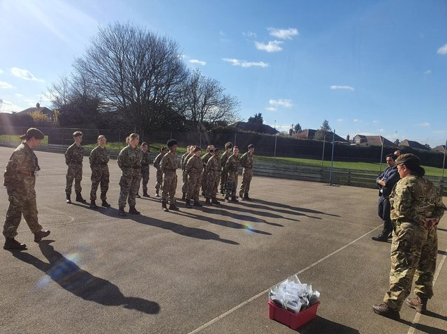 Sir Christopher Hatton Academy's Combined Cadet Forces Contingent Year 9 have received their Berets