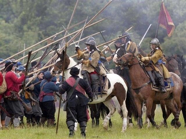 A re-enactment of the Battle of Naseby from a few years ago. (Photo by asdf)