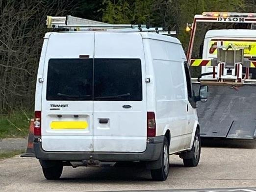 Police seized this van following Friday's theft in Moulton