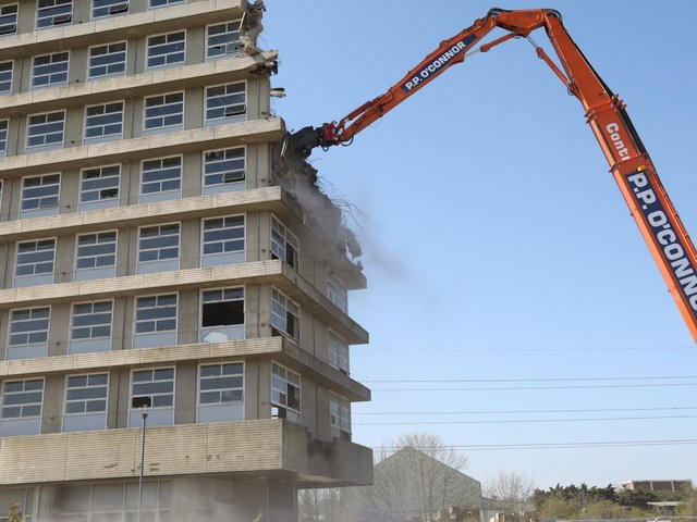 Demolition is underway