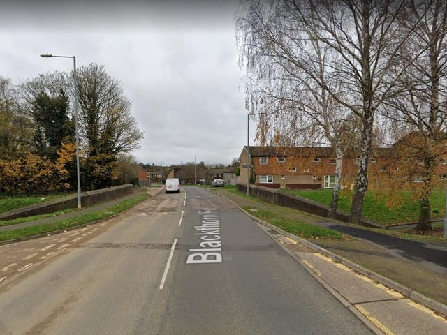 The attack took place in the underpass at the junction of Blackthorn Road and Vicarage Farm Drive.