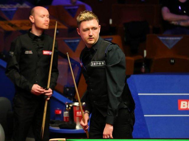 Kyren Wilson defeated namesake Gary Wilson to secure a spot in the second round of the World Snooker Championship. Picture courtesy of World Snooker Tour