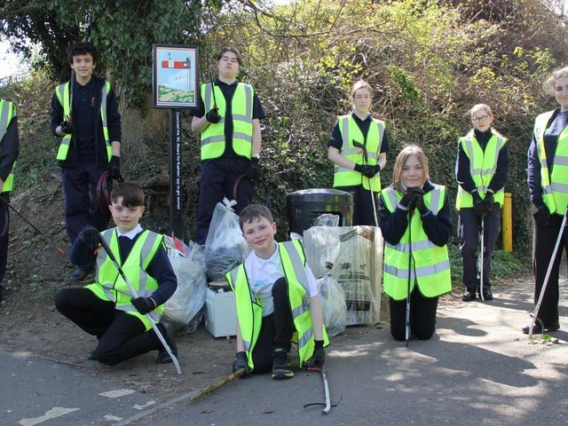 Rushden Sea Cadets show off their stash of rubbish