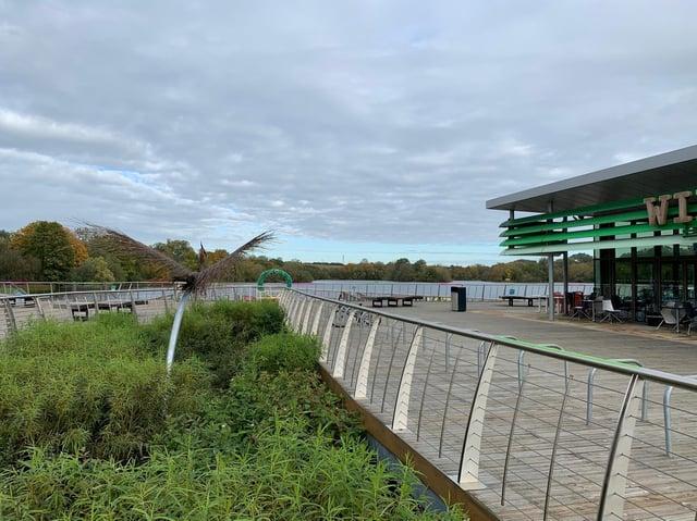 The boardwalk at Rushden Lakes