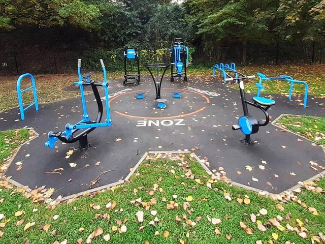 Some of the types of outdoor gym equipment that will be on offer in KGH's Pocket Park to staff and the public (Picture courtesy of Wicksteed)