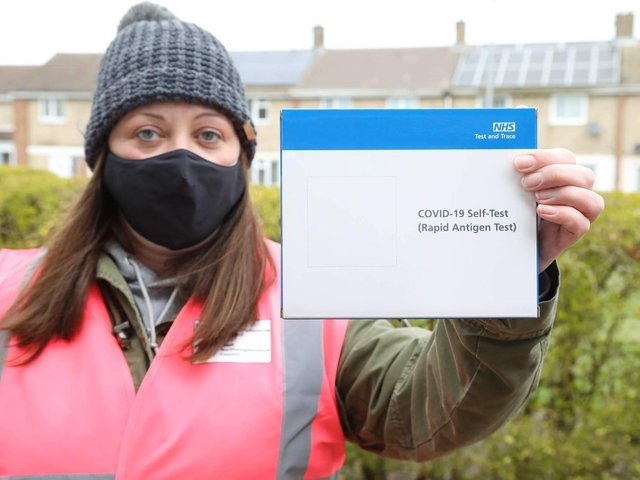 Volunteers took part in the testing pilot on the Beanfield estate