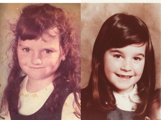 Gail (left) and Collette (right) were good friends as young girls