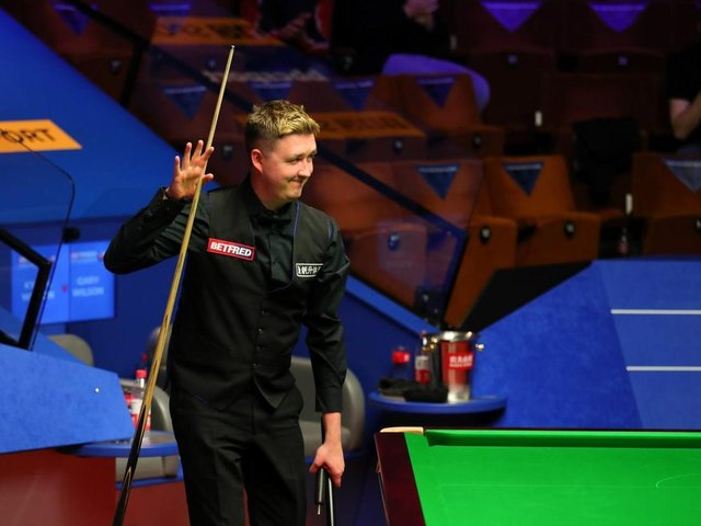 Kettering's Kyren Wilson has booked a place in the quarter-finals of the World Snooker Championship. Picture courtesy of World Snooker Tour