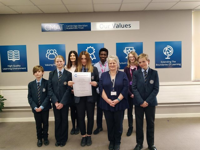 Staff and students at the Ferrers School are delighted with the award