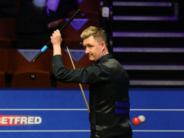 Kettering's Kyren Wilson saw off Neil Robertson to reach the last four of the World Snooker Championship. Picture courtesy of World Snooker Tour
