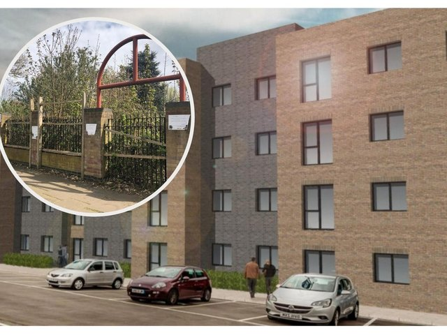 Modern flats are proposed for the site facing Gainsborough Road. Image: Sketch Design and Planning / JPI Media.