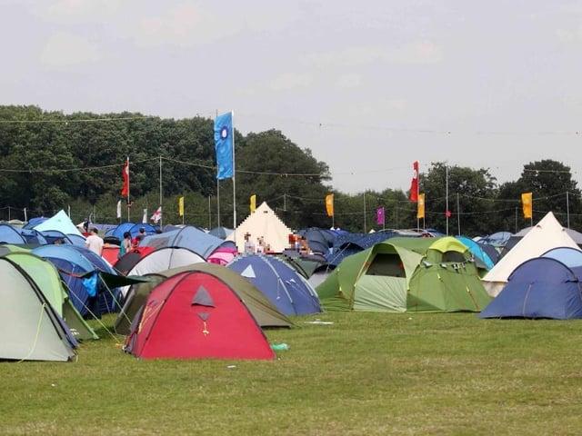 Camping at Shambala Festival library image