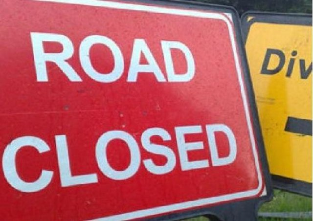 The A14 is closed between Welford and Kelmarsh on Friday morning
