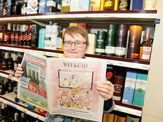 Emma Evans with the Weekend supplement