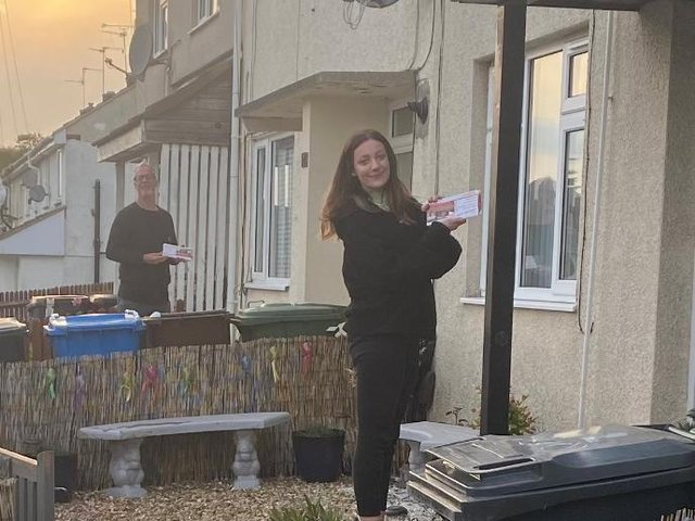 Zoe McGhee and her dad John have been canvassing for Labour since she could reach the letterbox