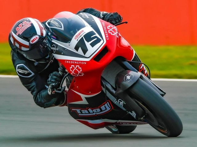 Jamie Perrin in action during testing at Silverstone. Picture courtesy of Camipix Photography