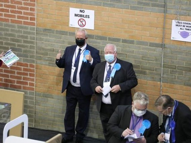 Wellingboroughs Martin Griffiths won his seat