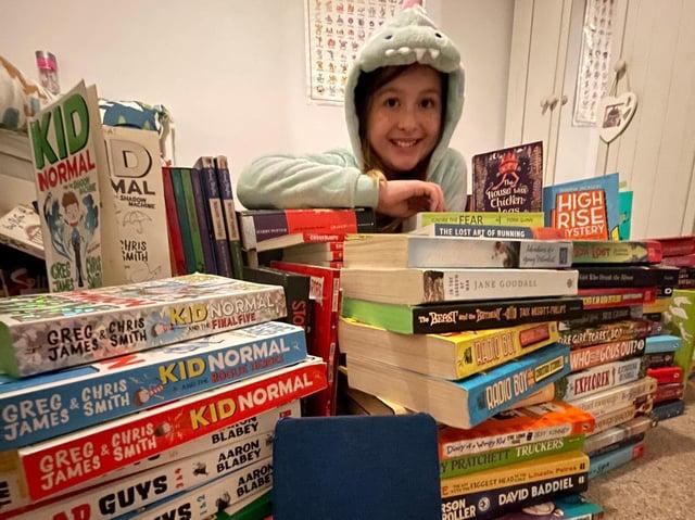 Georgia Humphreys of Irthlingborough loves reading