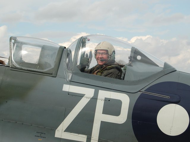 Contest winner Chris Foster fulfilled a boyhood dream of flying in one of Britain's iconic Spitfires last week.