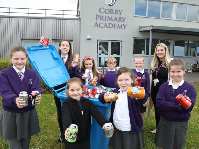 The Corby Primary Academy community has been collecting their aluminium drinks cans