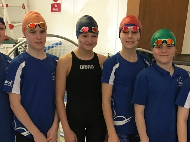 Wellingborough Amateur Swimming Club swimmers at the county championships