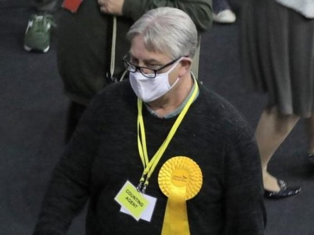 Chris Stanbra at last week's election count