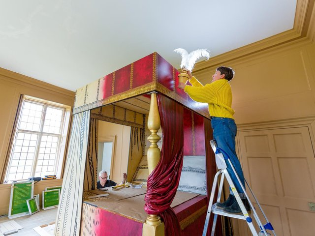 How one of the grand bedrooms may have looked