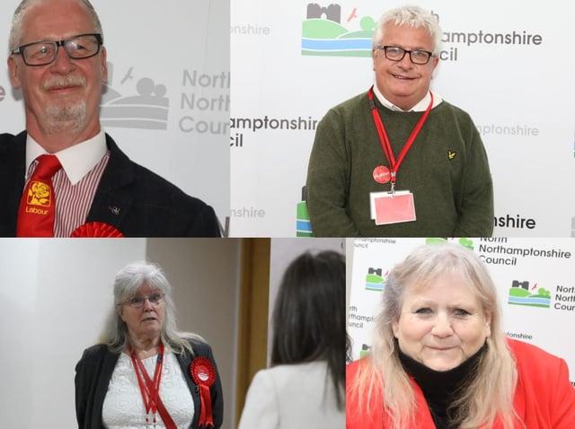 Top: John McGhee (deputy leader) and Mark Pengelly (chair) Bottom: Jean Addison (leader) and Lyn Buckingham (secretary)