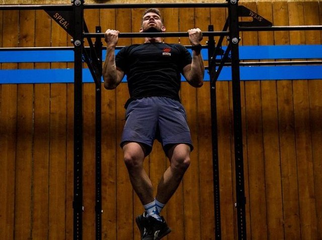 Jack Fleckney will take on the chin-up challenge next month.