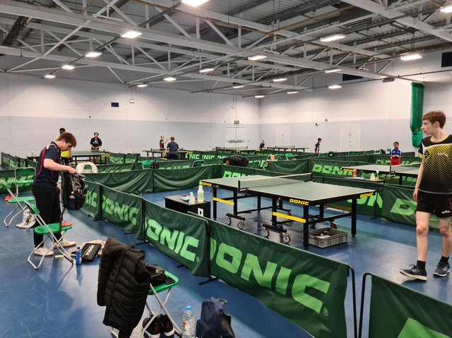 Westfield Table Tennis Club was the setting for the Northants County Junior & Cadet Tournament