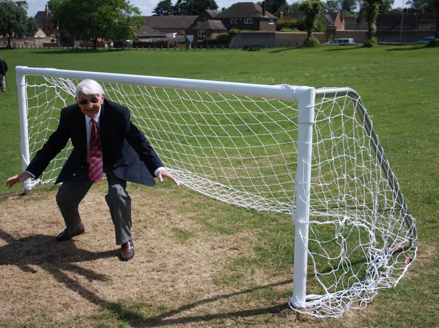 Derek Lawson after he had used some of his Councillor Empowerment money to fund goalposts